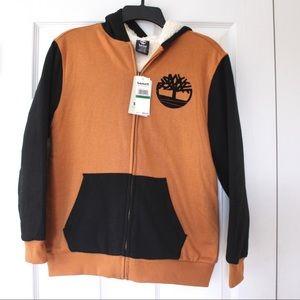 Timberland logo fleece lined jacket